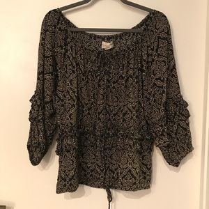 Denim & Supply Ralph Lauren Boho Off Shoulder Top